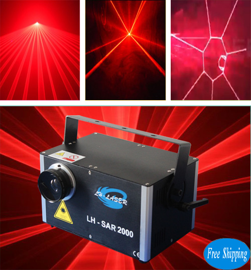 Free Shipping 2W Red Color Laser Lighting