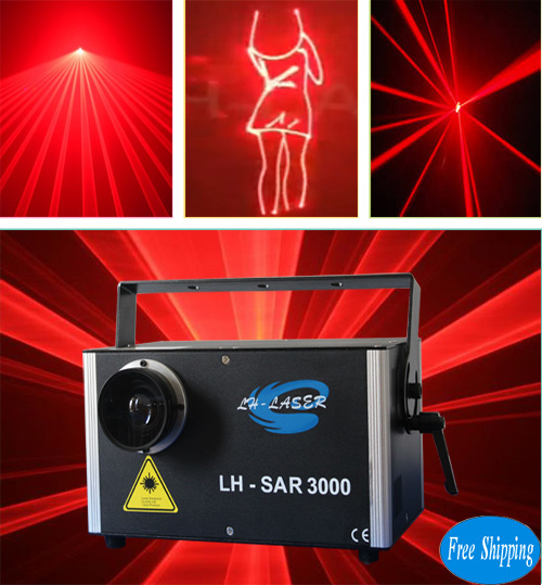 Free Shipping 3000MW Single Red Outdoor Laser Light