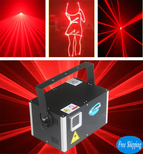 Free Shipping 3W Single Red Color SD Card Outdoor Christmas Laser