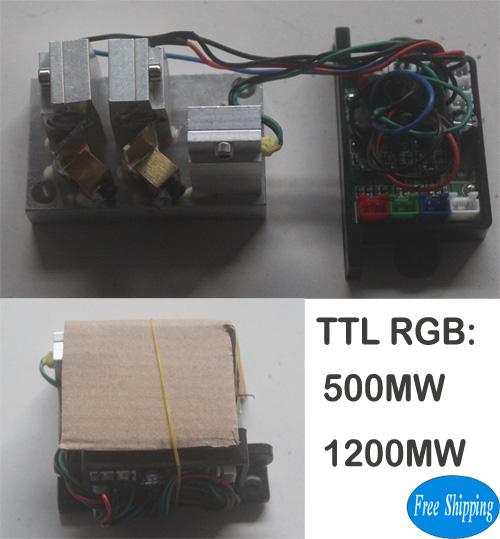 Free Shipping 500MW-1200MW RGB Laser Modules